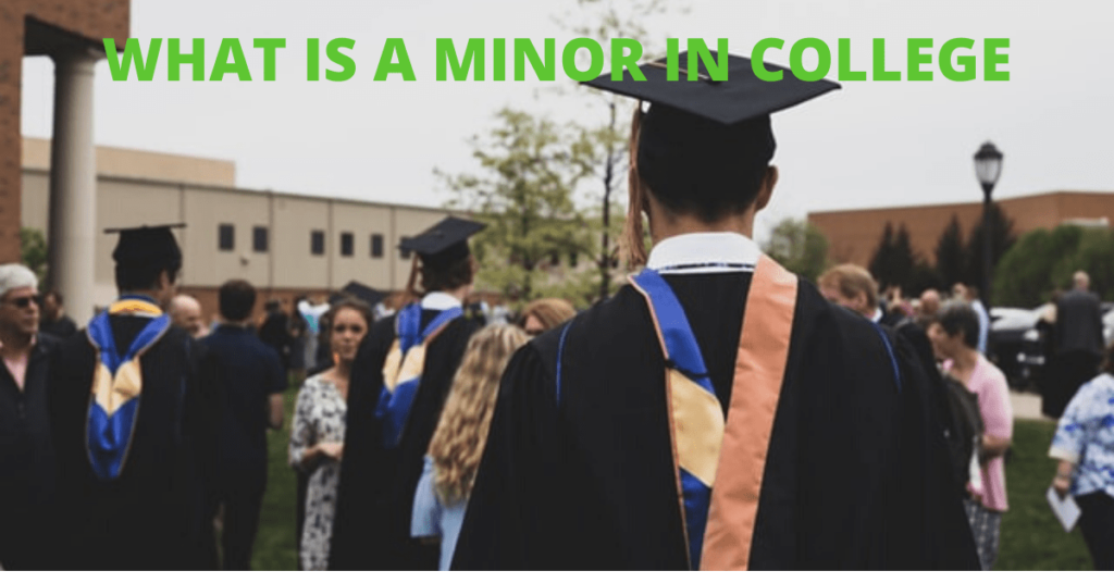 A man wearing a graduation gown- What is a minor in college